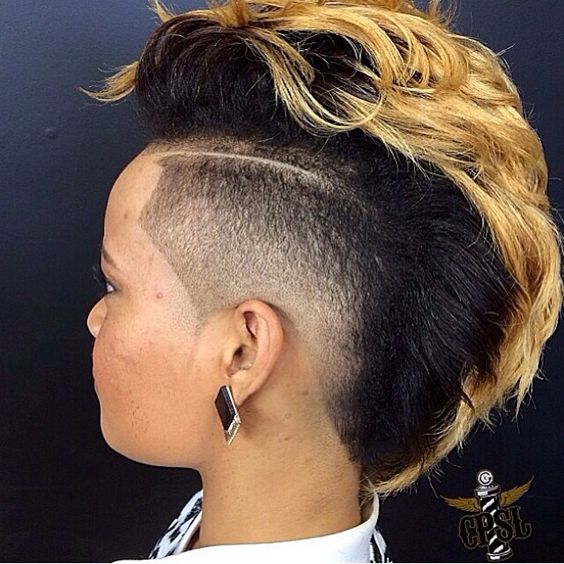 110 Fabulous Short Hairstyles for Black Women mohawk-haircut-for-black-women