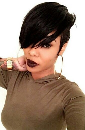 pixie hairstyle for black women with thick hair