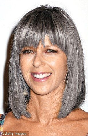 pretty bob hairstyle for older women with straight hair