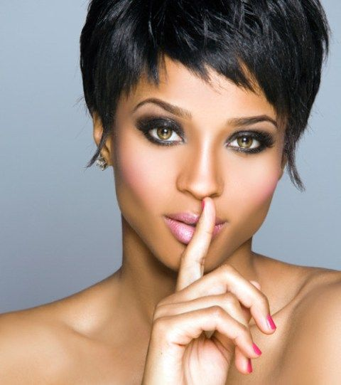 punky pixie short hairstyles for black women