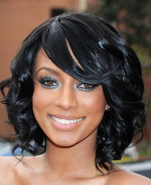shaggy bangs hairstyle for african american women