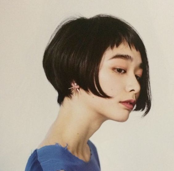 short bob with bangs hairstyles