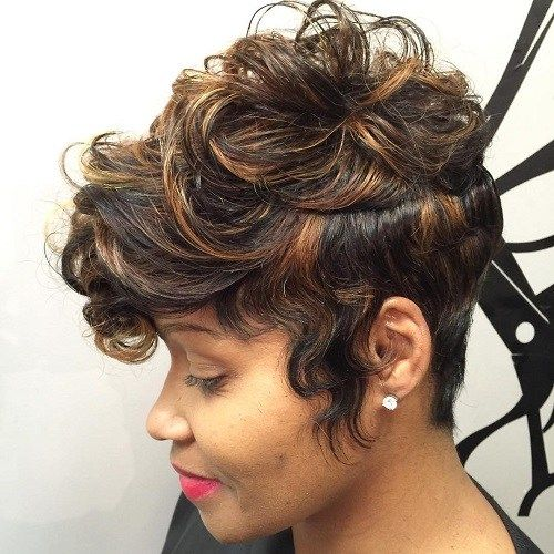short thick spiky haircut for black women