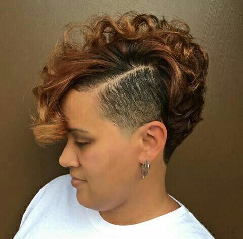 soft mohawk hairstyle for black women