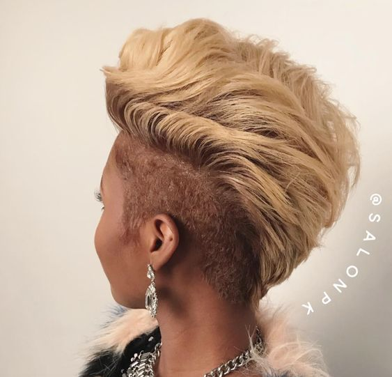 thick mohawk haircut for african american