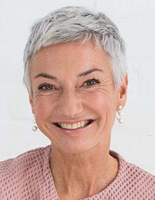 very short pixie haircut for older women with thin hair