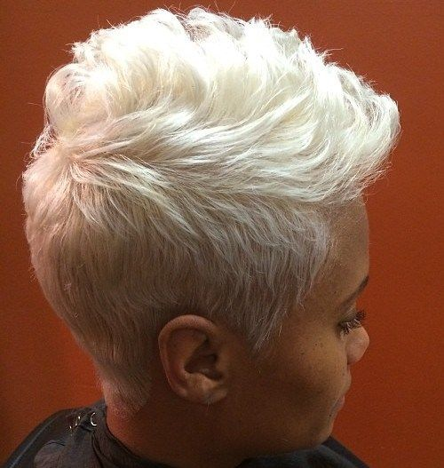 white color hairstyle for black women