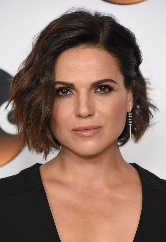 23 Popular Short Hairstyles for Women Over 40 that You Should Check in 2021 Asymmetrical-curly-bob