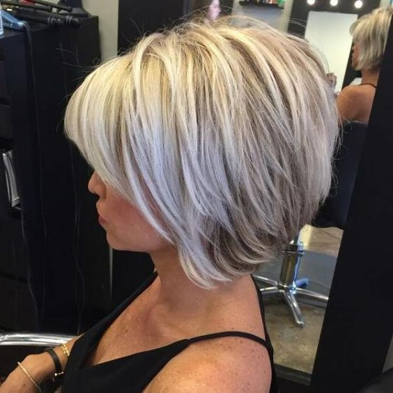 20 Greatest Layered Bob Hairstyles for Older Women (Updated in 2021) Feathered-bob