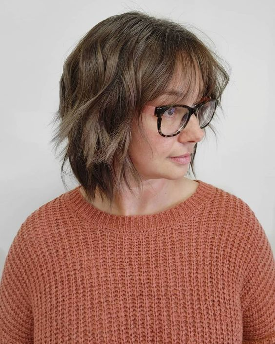 20 Greatest Layered Bob Hairstyles for Older Women (Updated in 2021) Inverted-shaggy-bob-cut