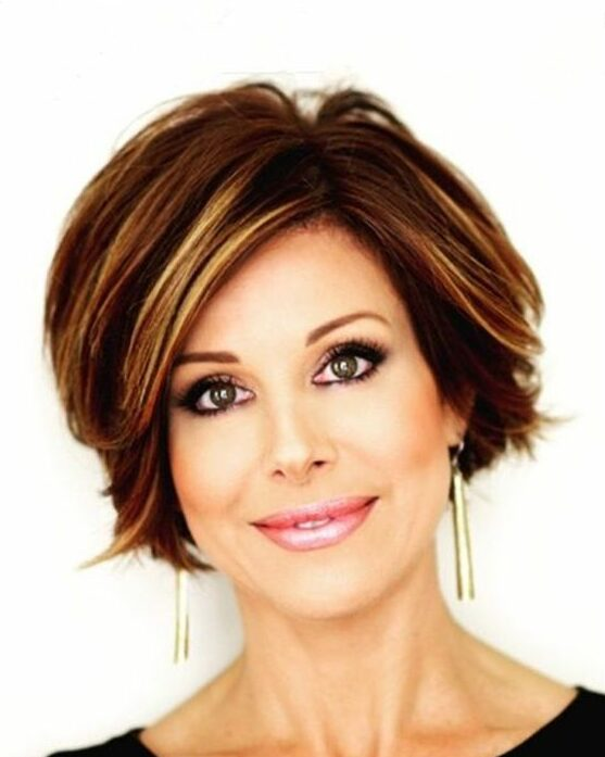 20 Greatest Layered Bob Hairstyles for Older Women (Updated in 2021) Layered-crown-haircut-e1627154380123