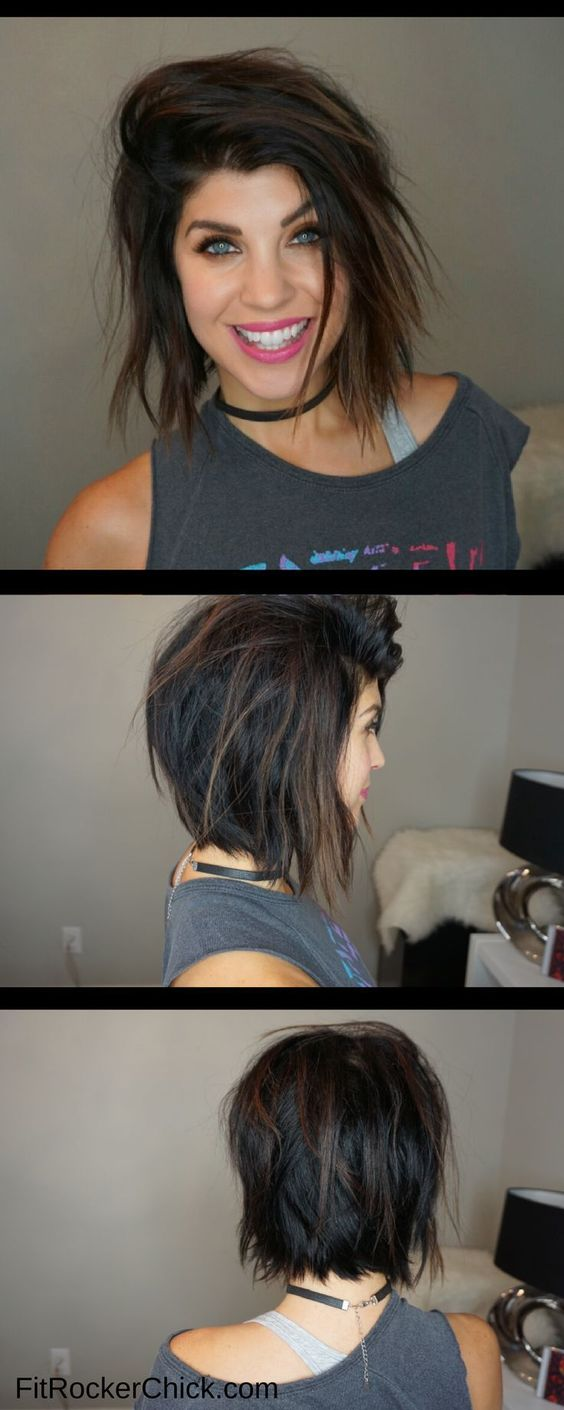 20 Greatest Layered Bob Hairstyles for Older Women (Updated in 2021) Layered-rocker-hairstyle