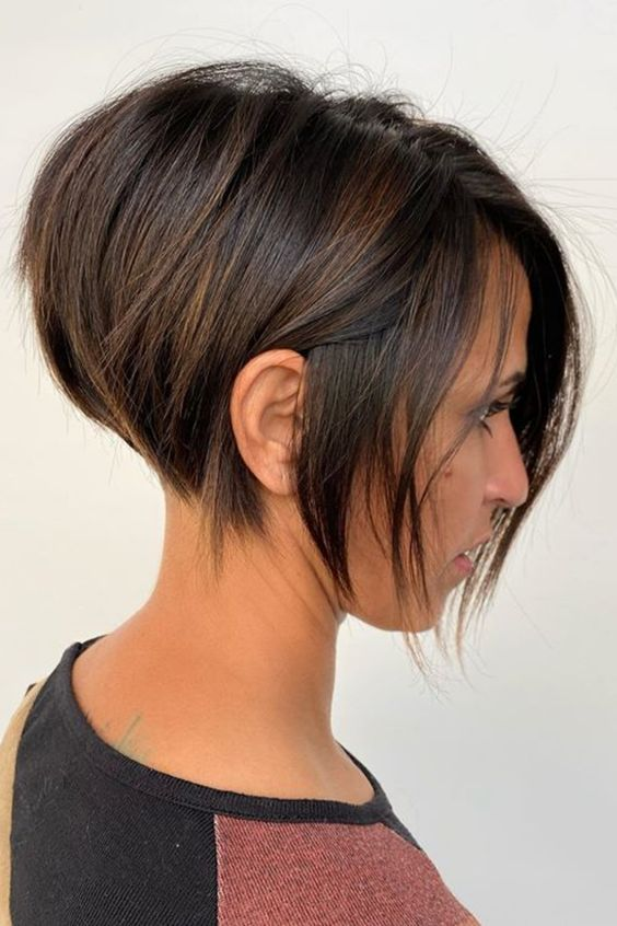 Here are 20 Best Short Haircuts for Straight Hair (Updated 2021) Short-stacked-pixie-bob