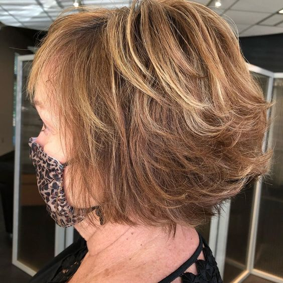 23 Popular Short Hairstyles for Women Over 40 that You Should Check in 2021 Textured-bob-hairstyle