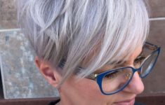 36 Short Hairstyles for Women Over 60 with Glasses (Updated 2019) beautiful-pixie-haircut-with-bangs-for-older-women-with-glasses-235x150