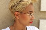 Chic Looking Side Swept Haircut For Women With Blonde And Thick Hair