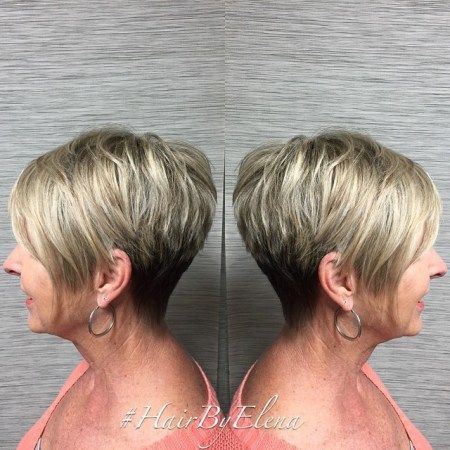 classic wedge short hair for women over 60