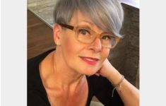 36 Short Hairstyles for Women Over 60 with Glasses (Updated 2019) look-younger-with-pixie-haircut-and-side-swept-bangs-if-you-are-over-60-women-235x150
