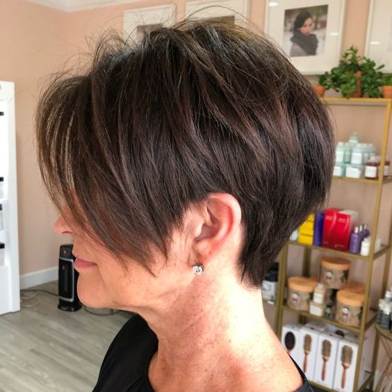wedge haircuts for women over 60