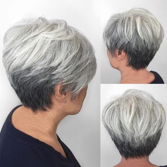 pretty short layered wedge haircut