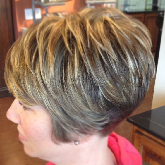 pretty wedge haircut that fit with women over 60