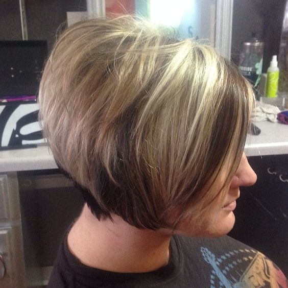 short angled wedge haircut style for women over 60