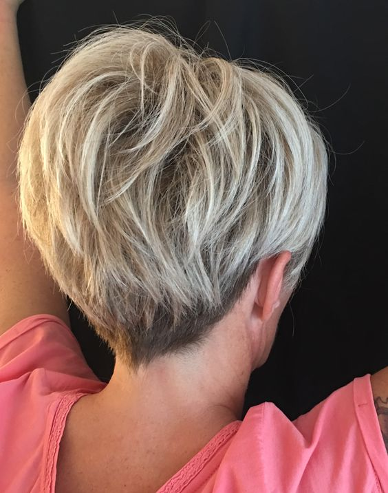 Short Classic Wedge Haircut For Old Lady Short