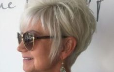 36 Short Hairstyles for Women Over 60 with Glasses (Updated 2019) short-layered-edgy-haircut-for-older-women-with-glasses-235x150