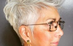 36 Short Hairstyles for Women Over 60 with Glasses (Updated 2019) short-layered-pixie-hairstyle-for-over-60-women-to-look-younger-235x150