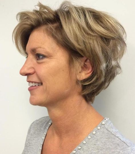 short wedge hairstyle for women over 60