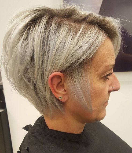 Thin-classic-wedge-haircut-for-women-over-60