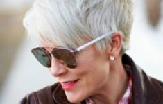 36 Short Hairstyles for Women Over 60 with Glasses (Updated 2019) trendy-pixie-short-haircut-style-for-older-women-235x150