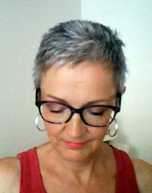 Very Short Haircut For Over 60 Women With Grey Hair And