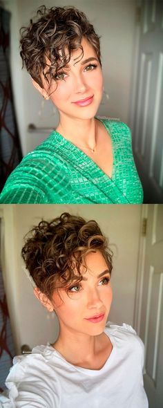15 Sensual Short Haircut Styles for Older Women that is Awesome in 2021 Curly-pixie-hairstyle