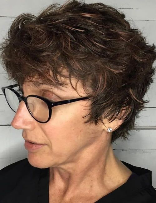 64 Awesome Short Curly Hairstyles for Women over 50 (Updated in 2021) Feathered-short-curly-hairstyle