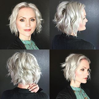 15 Sensual Short Haircut Styles for Older Women that is Awesome in 2021 Layered-wavy-bob-haircut