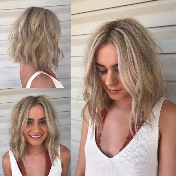 15 Sensual Short Haircut Styles for Older Women that is Awesome in 2021 Medium-long-angled-bob-with-layers