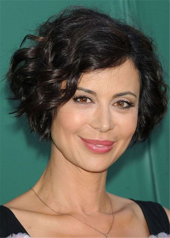 64 Awesome Short Curly Hairstyles for Women over 50 (Updated in 2021) Side-swept-curly-hairstyle