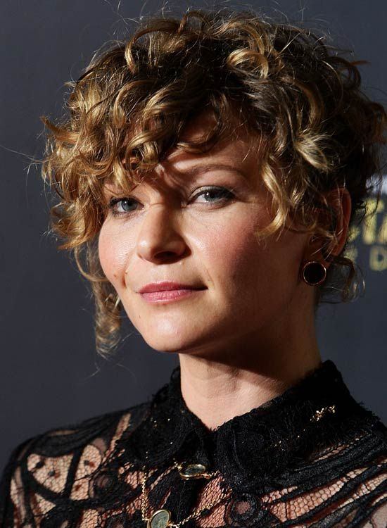 beautiful curly pixie cut for women over 50
