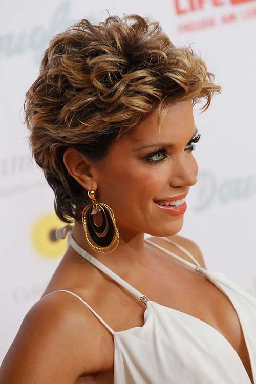 beautiful natural curly short haircut for women over 50