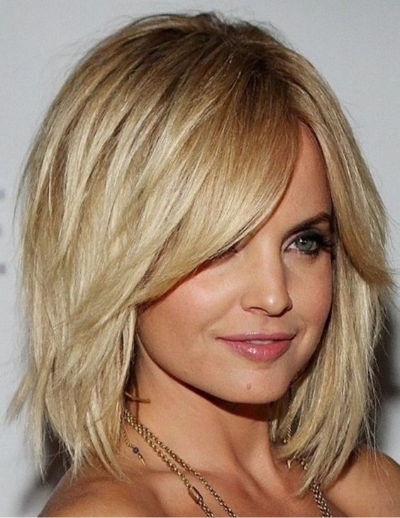 beautiful textured bob hairstyle with soft a line