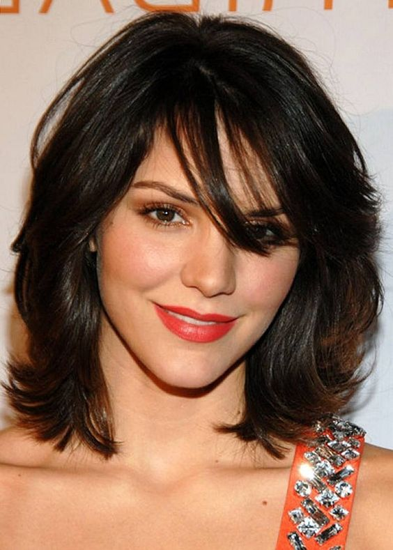 54 Awesome Short Layered Bob Hairstyles Ideas cool-layered-a-line-bob-hairstyle-for-women