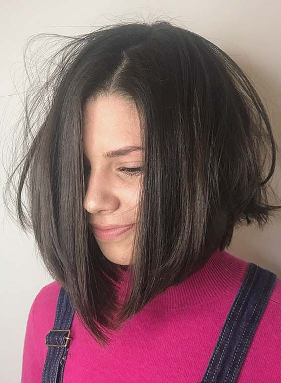 cute looking tousled bob hairstyle for women with medium hair