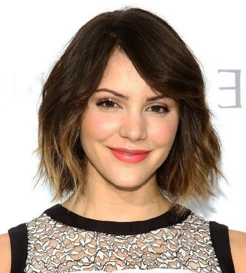 cute short bob hairstyle with a line layers