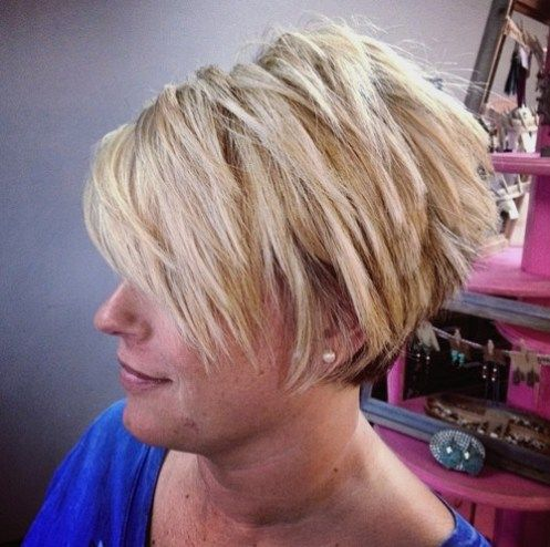 pretty choppy haircut that works with older women with thick hair