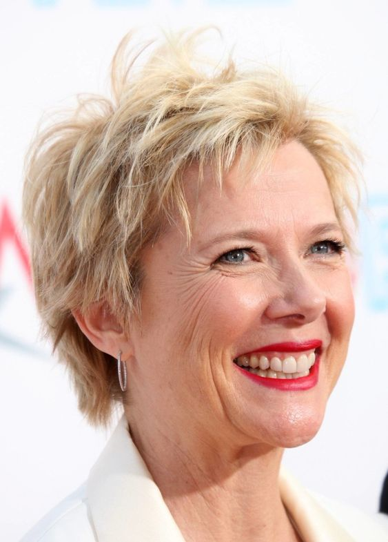 trendy choppy pixie cut that will makes any older women look younger
