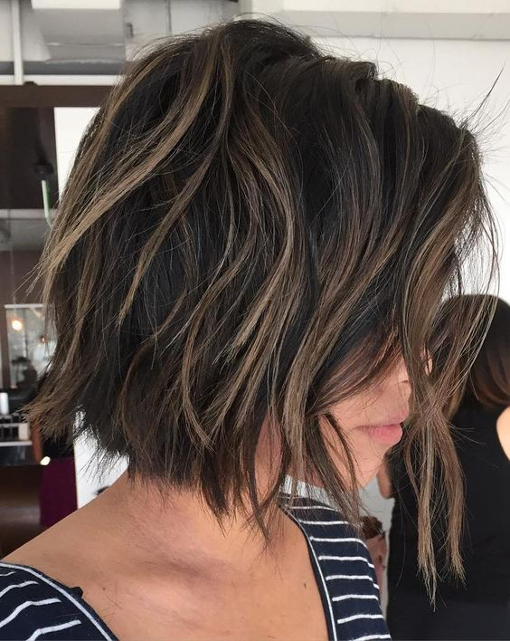 The Layered, Highlighted Bob Hairstyle 2
