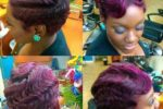 Colored, Finger Waves With Bangs 3