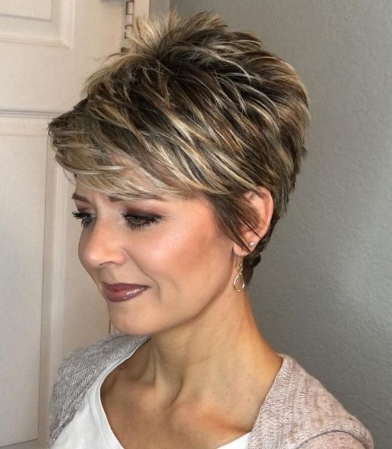Posh, Pixie-Like Wedge Cut Hairstyle 2