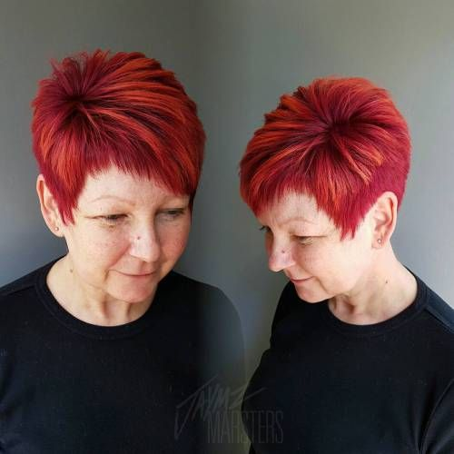 The Fiery Red Pixie Haircut for Fine Hair 2